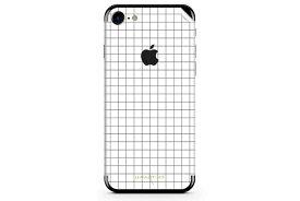 UNIQFINDユニークファインド iPhone6/6S/7 Plus スキンシール/保護シール Grid Line ホワイト【iphone6 iphone6S iphone7 Plus スマホケース 携帯ケース スキンシール ステッカー アイフォン 大理石 白 黒 ドット モノクロ アクセサリー ファッション おしゃれ】