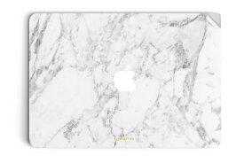 UNIQFINDユニークファインド MacBook Air/Pro 13インチ スキンシール/保護シール Marble ホワイト【ipad Air mini Pro Apple macbook ケース スキンシール ステッカー 大理石 白 黒 ドット モノクロ アクセサリー ファッション】