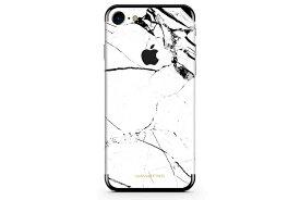 UNIQFINDユニークファインド iPhone6/6S/7/8 Plus スキンシール/保護シール Hyper Marble ホワイト【iphone6 iphone6S iphone7 Plus スマホケース 携帯ケース スキンシール ステッカー アイフォン 大理石 白 黒 ドット モノクロ アクセサリー ファッション おしゃれ】