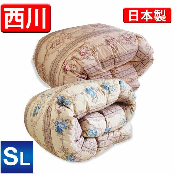(在庫一掃大放出価格)京都西川 羽毛布団 中国産ホワイトダックダウン85%(4K10023N85ST-12)(オドアケル) シングルロング セントラルキルティング 軽量生地