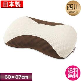 ポイント10倍 昭和西川 ムアツまくら Premium (MP8100) 60×37cm 首・頸椎を点でしっかり支える 日本製 箱入り muatu