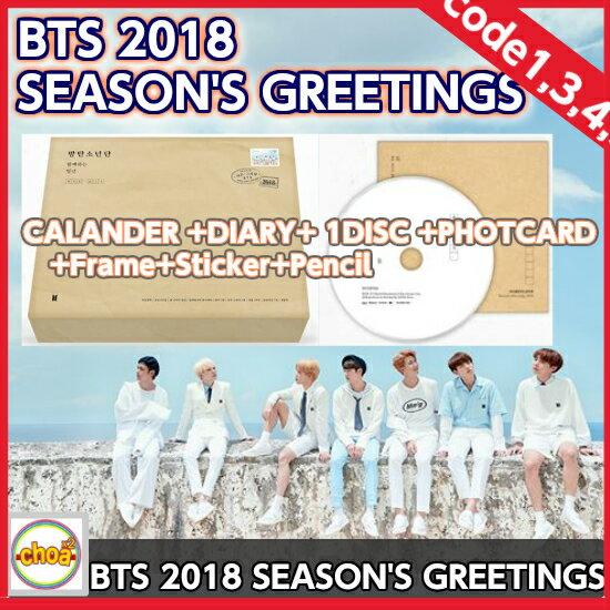 BTS 2018 SEASON'S GREETINGS 地域コード1,3/韓国語音声、字幕(韓、英、中)防弾少年団 bangtan 公式カレンダー