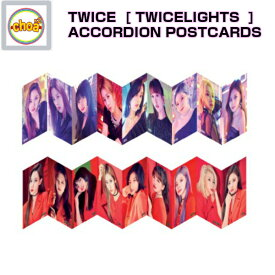 TWICE ACCORDION POST CARDS [TWICE WORLD TOUR 2019 'TWICELIGHTS' IN SEOUL GOODS] 公式グッズ
