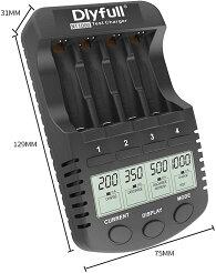 急速充電器充電池用エネループも1本から充電可ニッケル水素充電池/ニカド充電池用(Ni-MH/CD)継ぎ足し放電途中からリフレッシュ機能搭載単3/単4形エネループなどメーカー電池も可日本語説明書付き【DLYFULLNT1000充電器】