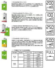 急速充電器充電池用エネループも1本から充電可ニッケル水素電池/ニッカド電池用(Ni-MH/CD)継ぎ足し放電途中から単3/単4形、エネループなどメーカー電池も可日本語説明書付き【PSPOWERNT1000充電器】