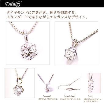 Pt900H&C0.1ctダイヤモンドネックレス【H&C】
