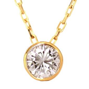 一粒ダイヤK18ゴールドダイヤモンドネックレス0.2ctダイヤモンドペンダント一粒18金クリスマスプレゼント【送料無料】在庫有り