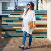 All two colors of thin T-shirt half-length sleeves