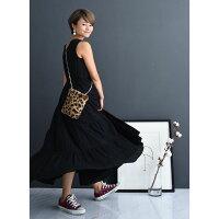 授乳リネンボリュームスカートワンピース【マタニティ服/授乳服】81m12