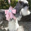 送料無料【SUSAN LANCI スーザンランシー】 スワロフスキー大きいリボン付 ハーネス セレブ愛用 犬用品 小型犬 新色