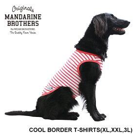 クール ドッグウェア 犬の服 犬 服 ボーダー 冷感 春 夏 中型犬 MANDARINE BROTHERS.COOL BORDER TSHIRTS(XL,XXL,3L)