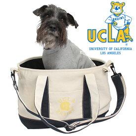 UCLA キャリーバッグ 犬 犬キャリーバッグ カレッジ トートバッグ ボストンバッグ DOG ドッグ/UCLA DOG CARRY TOTE BAG(WHITE)