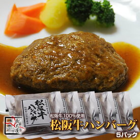 松阪牛ハンバーグ 5パックセット【冷凍便発送】【RCP】