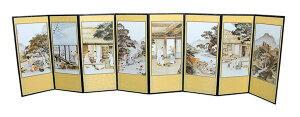 韓国風俗絵画図のミニ屏風・風景■m-byobu-1-s【ギフト】【お土産】