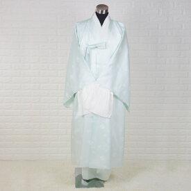 韓国葬儀用衣装男性用チョゴリ・シルク高級寿衣フルセット[ブルー]■sui-2-2-s
