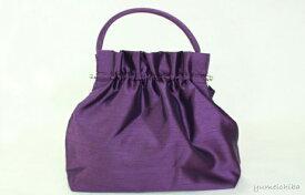 パーティーバッグ・ギャザーバッグ 紫■bag-1-2pu-s【ギフト】