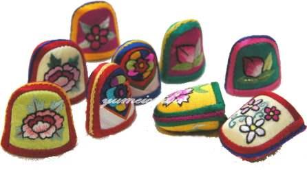 韓国雑貨 手刺繍指貫・3ヶセット■korumu-1-s【ギフト】【お土産】【結婚祝】