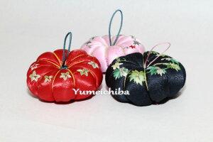 韓国手刺繍のピンクッション、針刺し(かぼちゃ)■pincushion-10-s【ギフト】【お土産】【結婚祝】