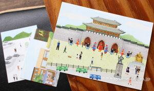 韓国民画アートカード4(3枚セット)■artcard-4-s【ギフト】【お土産】