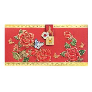 韓国 メッセージカード (祝い袋・お年玉袋)レッド■messagecard-fb223-6-s【ギフト】【お土産】