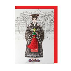 韓国 メッセージカード (韓服 )パジチョゴリ王5■messagecard-ft221-5-s【ギフト】【お土産】
