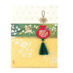 韓国 メッセージカード (カード兼年賀状)福チュモニ4■messagecard-ft223-4-s【ギフト】【お土産】