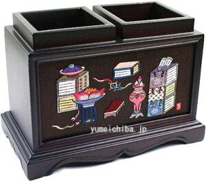 韓国手刺繍ペン立て冊架図■pencase-5-s【ギフト】【お土産】
