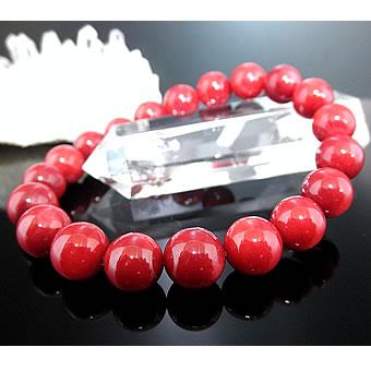 ★赤サンゴブレスレット【10mm珠】(赤珊瑚、レッドコーラル、Red Coral) 2個以上で【代引き・送料無料!】 注文殺到中!※発送手配に、2営業日前後いただきます。予めご了承ください。