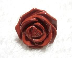天然石 レッドジャスパー 水晶 クリスタル 薔薇 リング 指輪 アクセサリー ヒーリング Rose