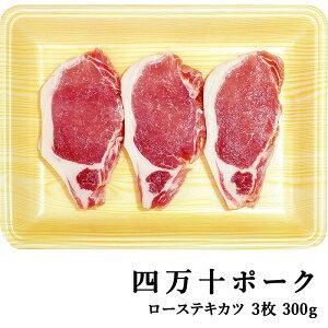 四万十ポーク 窪川ポーク ロース・テキカツ 3枚 約300g 高知産 豚肉 ポーク 焼肉 ステーキ しゃぶしゃぶ 高級 ギフト プレゼント お取り寄せ 産地直送 お中元 お祝い(200023)【Cool delivery