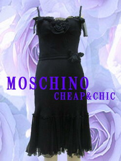 [MOSCHINO CHEAP &CHIC ★ mosquinocigpandssic] • one-piece Italy size-40 / 9 of medium-length black / black women's one piece #mos6656139a0423-40