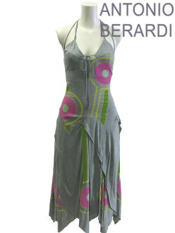 ANTONIO BERARDI ★ アントニオベラルディ: one-piece Italy size-40 / 7 No. sleeveless gray / gray ladies one piece #ant41415s024-40