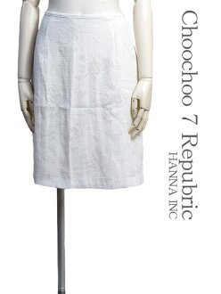 [SCOOP ★ scoop] [] Skirt size - M knee-length white / white floral gauze chiffon hip frill skirt Womens skirts #sco82-56546-08-M
