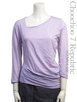 [SCOOP ★ scoop] [] Shirt size - M long sleeve lilac and Wisteria asymmetric long sleeve Womens tops #sco93-93201-85-M