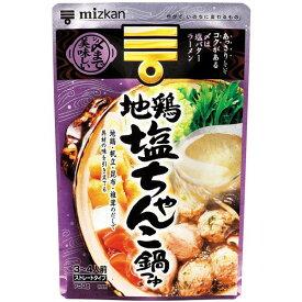 【4点購入で送料無料】ミツカン シメまで美味しい地鶏塩ちゃんこ鍋つゆ ストレートタイプ 750g