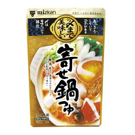 【4点購入で送料無料】ミツカン シメまで美味しい寄せ鍋つゆ ストレートタイプ 750g