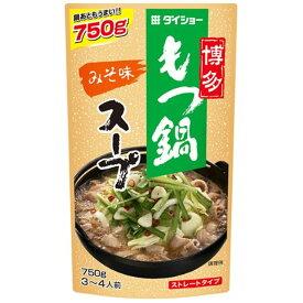 【3点購入で送料無料】ダイショー 博多もつ鍋スープ みそ味 750g