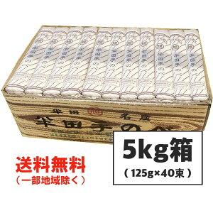 お中元 半田そうめん (手のべ) 5kg(125g×40束) 竹田製麺(のし ギフト可)徳島より発送 手延べ 素麺