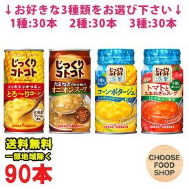 選べる3ケース ポッカサッポロ じっくりコトコト ホットスープ 冷製スープ 缶 30本×3ケース (とろーりコーン / オニオン / コーンポタージュ / トマトとたまねぎ) まとめ買い HOT COLD