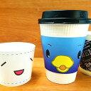 【小ロット】【オリジナル印刷】オリジナルカップスリーブ 100枚(販促品 業務用 名入れ オリジナルデザイン)