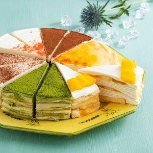 父の日 ギフト スイーツ プレゼント お中元 ひんやりアイス 誕生日 バースデー ホールケーキ カットケーキ 結婚祝い 出産祝い ミルクレープ 送料無料 ミルクレープ6種食べ比べセット12個入