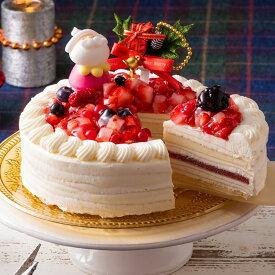 クリスマスケーキ クリスマス 予約 2021 スイーツ お菓子 ケーキ 手作り ショートケーキ ミルクレープ クレープ ホワイトチョコ 5号 3人用 4人用 ホワイトプレミアムミルクレープケーキ 送料無料