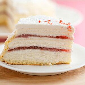 お中元 2021 スイーツ ミルクレープ バースデーケーキミルクレープ 誕生日ケーキ カットケーキ ストロベリー いちご 内祝い 手作り もっちり食感の手作りミルクレープストロベリミルクレー