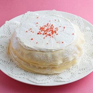 敬老の日 2021 スイーツ プレゼント ギフト ケーキ ミルクレープ ホールケーキ ストロベリー いちご 誕生日ケーキ 内祝い パーティー 手作り もっちり食感の手作りミルクレープストロベリー