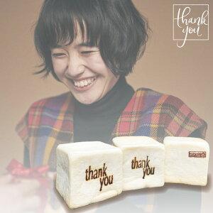 Gooda掲載商品 【NEW・送料無料】 Letterパン Thank you 焼印 ギフト プレゼント シュシュの生食パン 1セット3コ入 (0.5斤(9.5cm×9.5cm)×3コ) 冷凍 クール便 お取り寄せ 生食パン