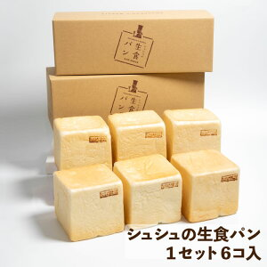 シュシュズベーカリー シュシュの生食パン 1セット6コ入 (0.5斤(9.5cm×9.5cm)×6コ) 冷凍 食パン 生食パン 生 パン クール便 発送 ギフト 贈り物 プレゼント 高級