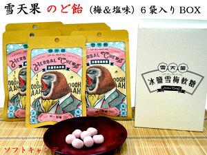 雪天果ソフトキャンディ(梅&塩味)BOX(6袋入)