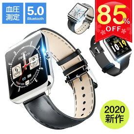 「最新型 1.54インチ大画面 Bluetooth5.0」itDEAL スマートウォッチ 血圧 フルタッチ操作 着信通知 睡眠検測 活動量計 心拍計 歩数計 時計 音楽製御 天気予報 リストバンド 腕時計 メンズ レディース ビジネス iphone 対応 android 対応 line 対応