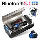 「10倍ポイント」「2020年最新 Bluetooth5.1」ワイヤレスイヤホン Bluetooth イヤホン Bluetooth5.1 3000mAh 軽型 ブ…