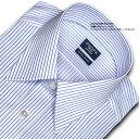 【日清紡アポロコット】長袖・レギュラーカラーシャツ・ブルーストライプ・綿100%形態安定/CHOYAシャツCHOYA SHIRT FACTORY(cfd220-451)